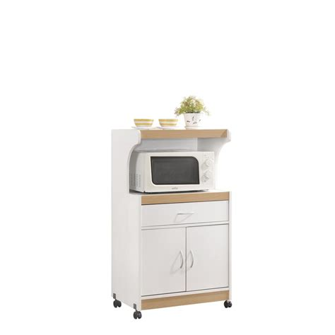 microwave cart with drawer white hodedah 1 drawer white microwave cart hik72 white the