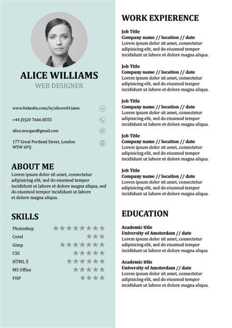 Resume Template Creative Cv Doc Word Free Free Creative Resume Template Doc