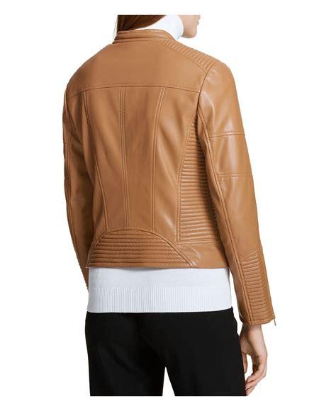 calvin klein performance moto scuba vest with hood lyst calvin klein faux leather moto jacket in brown
