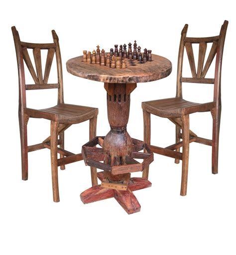 chess table with chairs 51 chess table and chairs set rustic outdoor tables