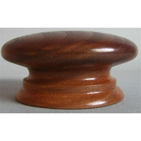 Walnut Knob by Knob Style A 70mm Walnut Lacquered Wooden Knob