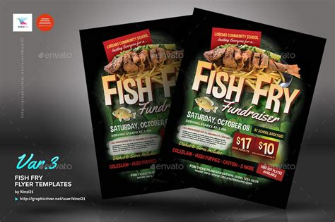 Fish Fry Flyer Templates By Kinzi21 Graphicriver Fish Fry Menu Template