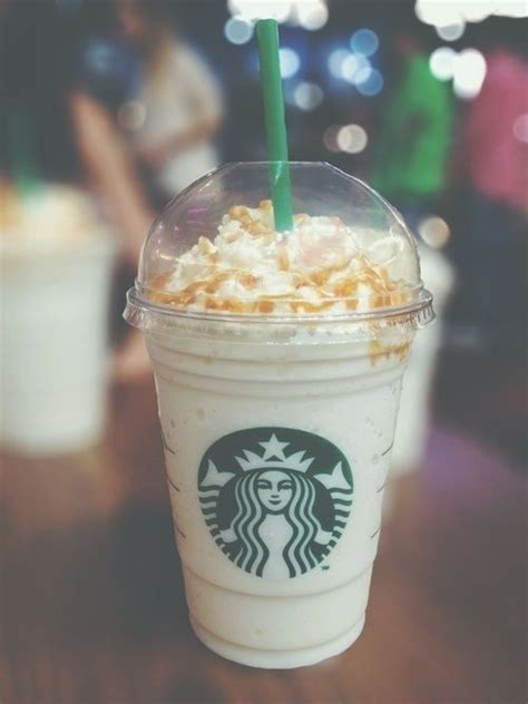 Grande Vanilla Bean Frap With Inside/Out Caramel Drizzle   Starbucks   Pinterest   Beans