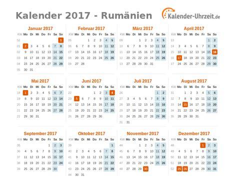 Individueller Kalender 2017 Feiertage 2017 Rum 228 Nien Kalender 220 Bersicht