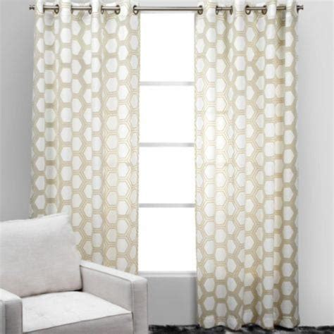 White And Beige Curtains Ankara Panels Z Gallerie