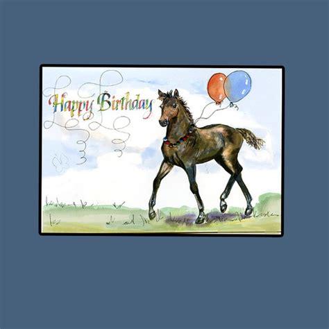 printable horse happy birthday cards happy birthday horse card by hilary williams artwanted com