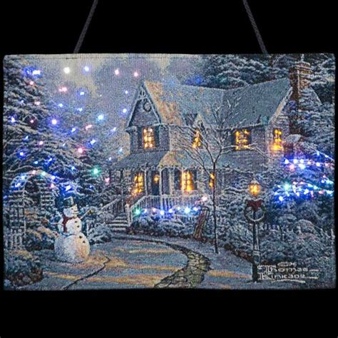 buy thomas kinkade a snowman s welcome wall hanging