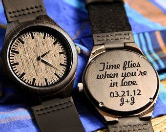 Wood Engraved Watch Personalized Watch; Gift for Him