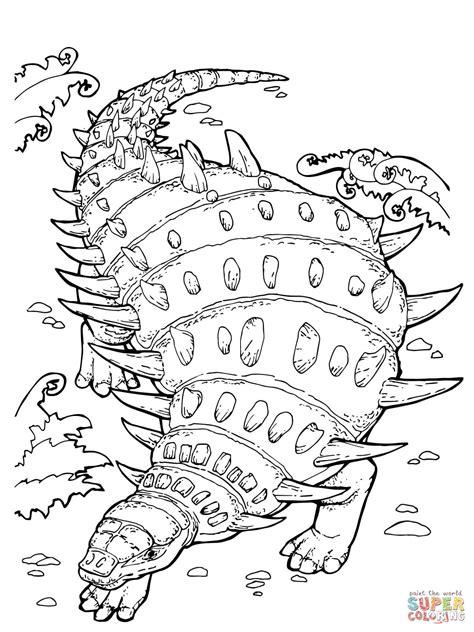 euoplocephalus coloring page coloriage hylaeosaurus dinosaure ankylosaure herbivore