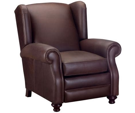 leather wing back recliner wingback leather recliner chair club furniture