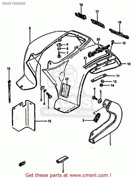 1985 Suzuki Lt50 Parts Suzuki Lt50 1985 F Rear Fender Schematic Partsfiche