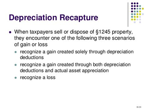 section 1245 depreciation recapture acct321 chapter 10