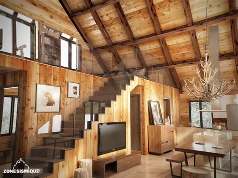 Chalet Bois Interieur by Stunning Interieur Chalet En Bois Photos Awesome