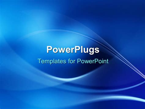 powerpoint template electric blue wave patterns on cobalt