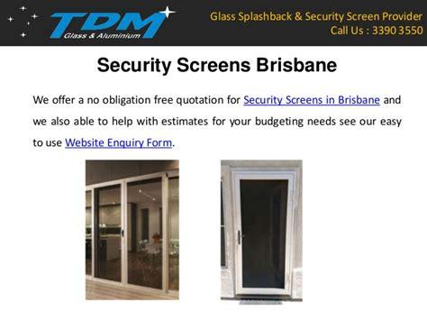 tdm glass aluminium offers finest glass security screen