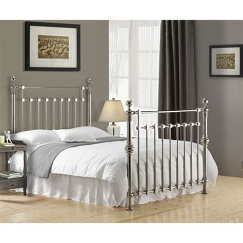 chrome bedroom furniture edward chrome finish metal double bed 22860 furniture in