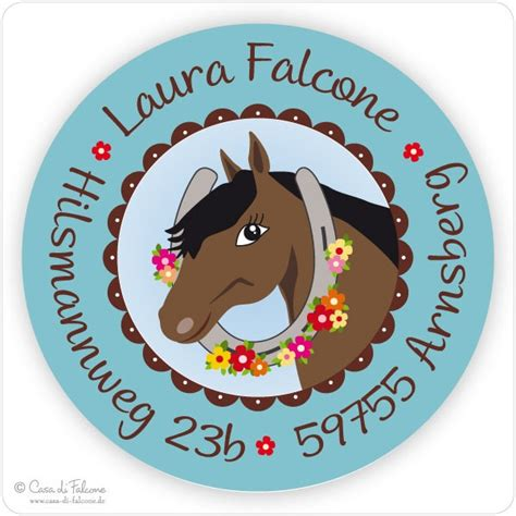 Adressaufkleber Folie by Aufkleber Pferd Casa Di Falcone