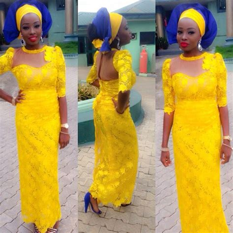 aso ebi style for blue and yellow colour 1000 images about nigerian wedding top popular ore