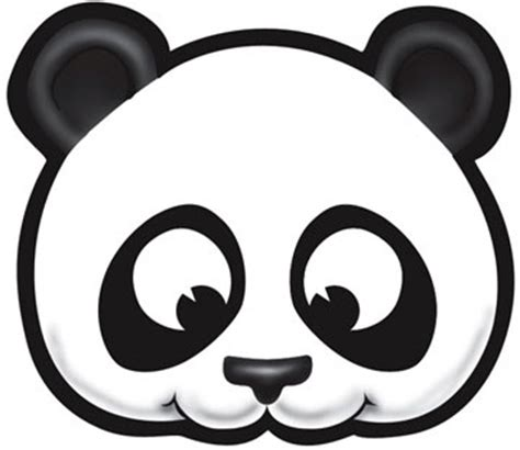 printable panda mask template animal maskeraids