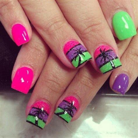 easy nail art bright colors lindas u 241 as color ne 243 n con dise 241 os inspirados por el