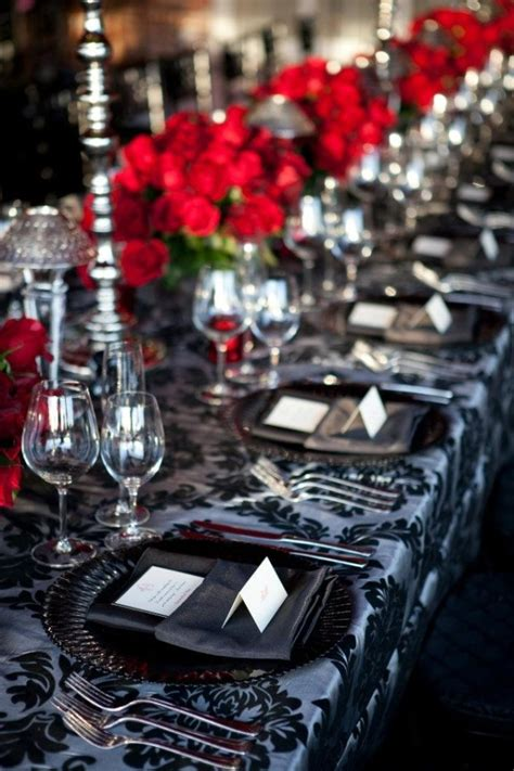 damask reception linens wedding black and white theme black and white roses high