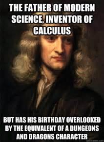 Science Birthday Meme - sir isaac newton memes quickmeme