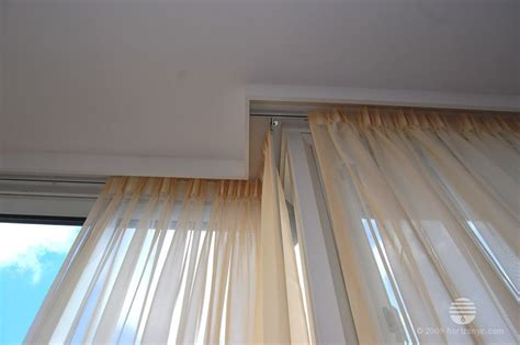 curtains on a track pin by eva on window treatments pinterest