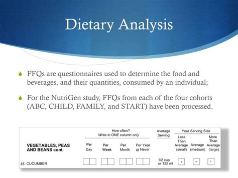 dietary pattern analysis a new direction in nutritional ppt ffqs and dietary pattern analysis powerpoint