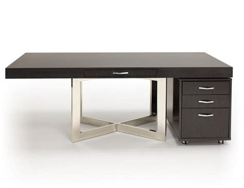 Sleek 75 Quot Executive Office Desk In Glossy Gray Oak Finish Sleek Office Desk