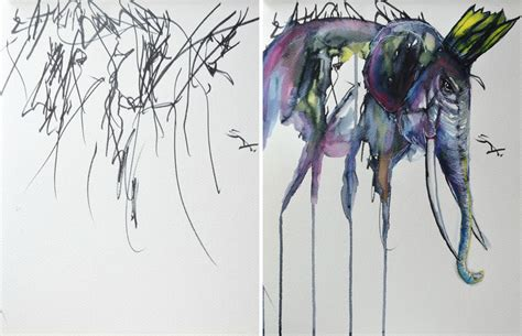 from sketch to painting artist turns her 2 year old s sketches into paintings bored panda