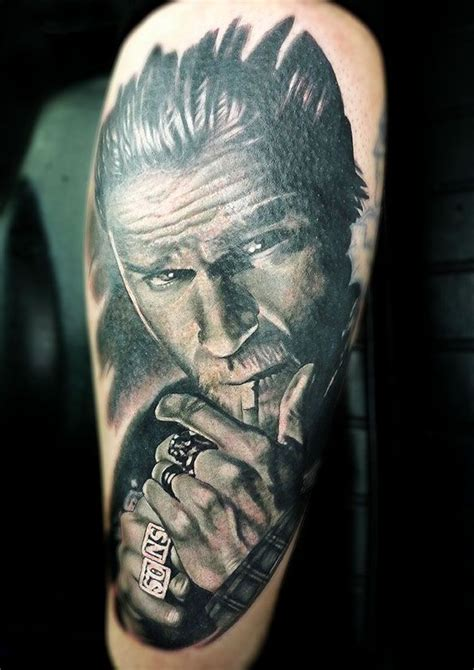 soa tattoo of anarchy such a sick badassery