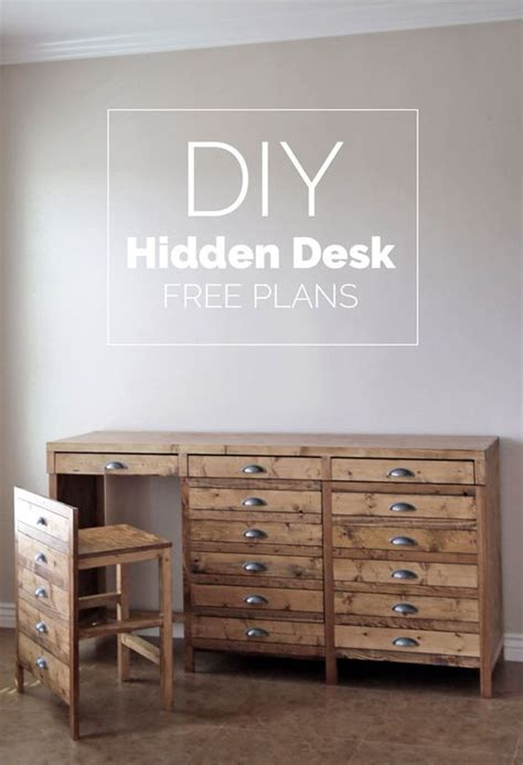 hidden printer cabinet diy hidden desk it s not a printers cabinet it s a