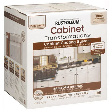 rustoleum kitchen cabinet paint kit rust oleum 174 cabinet transformations small pure white