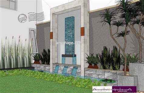 Layout Taman Rumah | desain kolam ikan dan taman minimalis design by annahape