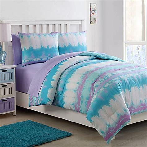pink tie dye comforter vcny home pink lemonade tie dye comforter set bed bath
