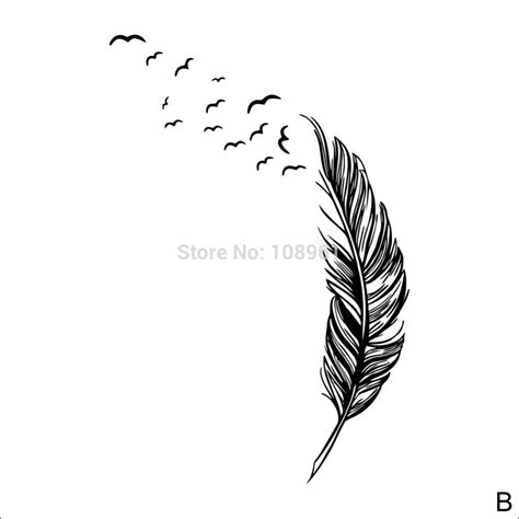 Sticker Wallpaper Flying Feather flying feather drifting to the left wall stickers home decor decals home decoration wallpaper