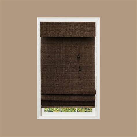 home decorators blinds home decorators collection espresso brown multi weave