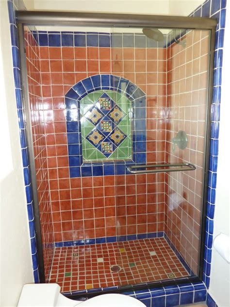mexican tile bathroom designs bathroom shower using mexican tiles interiors of color ideas