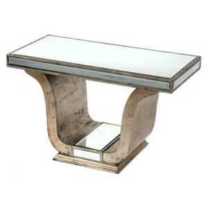 venetian mirrored deco silver glass coffee table