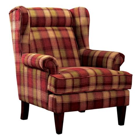 plaid wingback chair darby home co finley plaid print wingback chair reviews