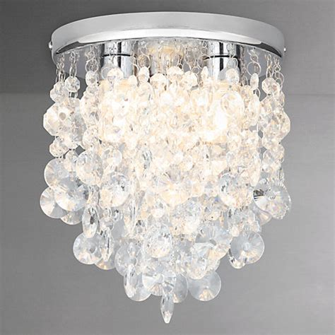 crystal lights for bathroom buy john lewis katelyn crystal bathroom flush ceiling