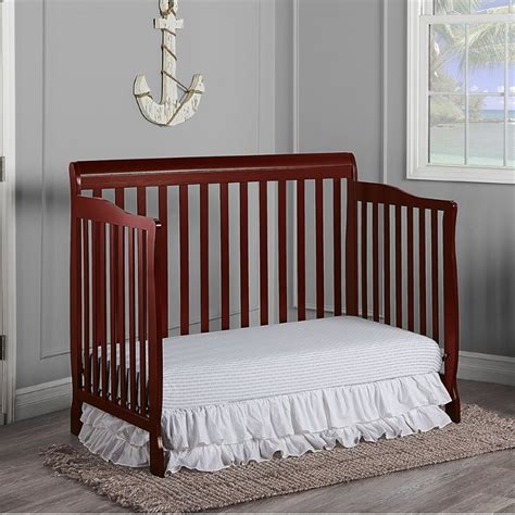 on me ashton 4 in 1 convertible crib white on me ashton convertible 5 in 1 crib in cherry 660 c