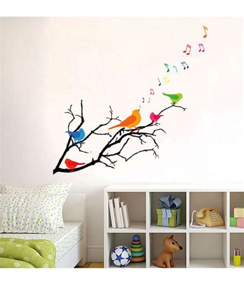 Xl7120 Wallsticker 50x70 stickerskart wall stickers wall decals colorful birds with