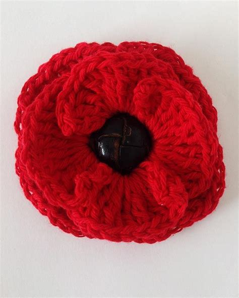 free pattern for knitted poppies button poppy free crochet pattern knitting crochet