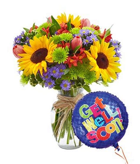 mixed floral celebration get well bouquet at from you
