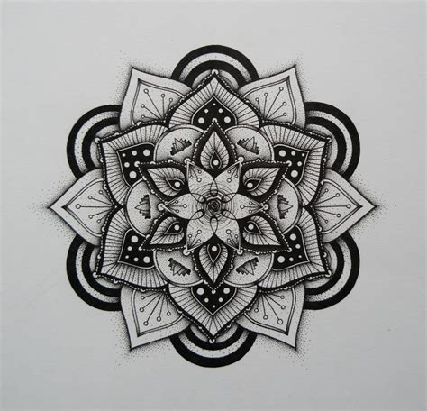 dotwork tattoo pen drawing stippling blackwork hand drawn mandala pen and ink
