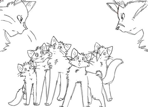 pin  dkitty  warrior cat coloring pages pinterest
