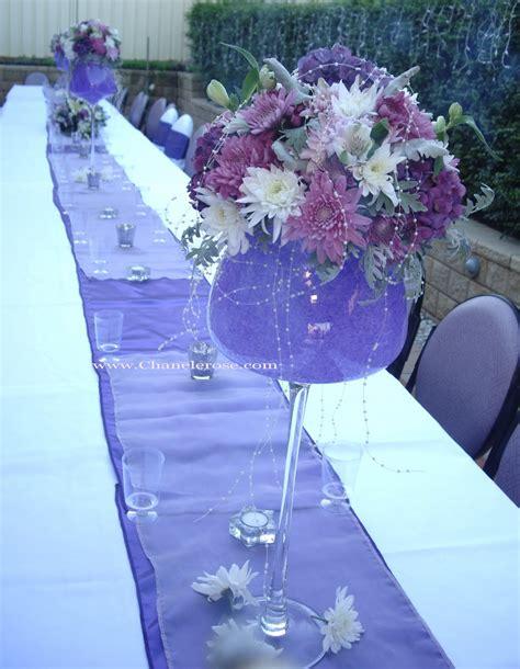engagement party decorations lavender purple table