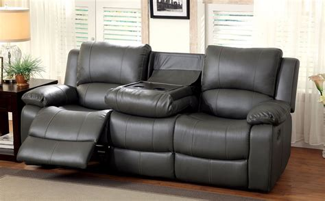 Recliner Sofas by Sarles Gray Drop Table Reclining Living Room Set From