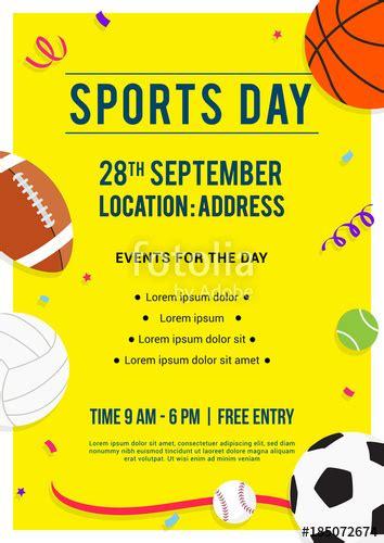 sports day poster invitation vector illustration sport